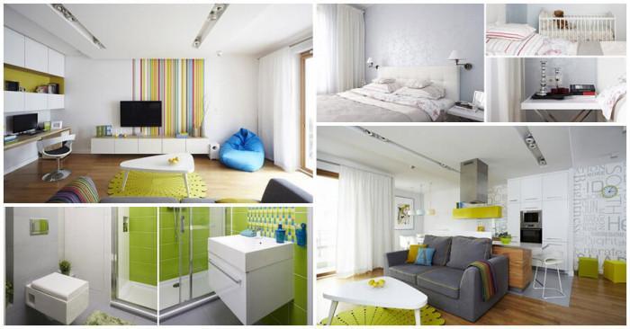 Пъстър и свеж дом, впечатляващ с неповторим комфорт и интригуващ дизайн