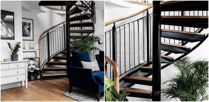Спирално стълбище свързващо етажите
