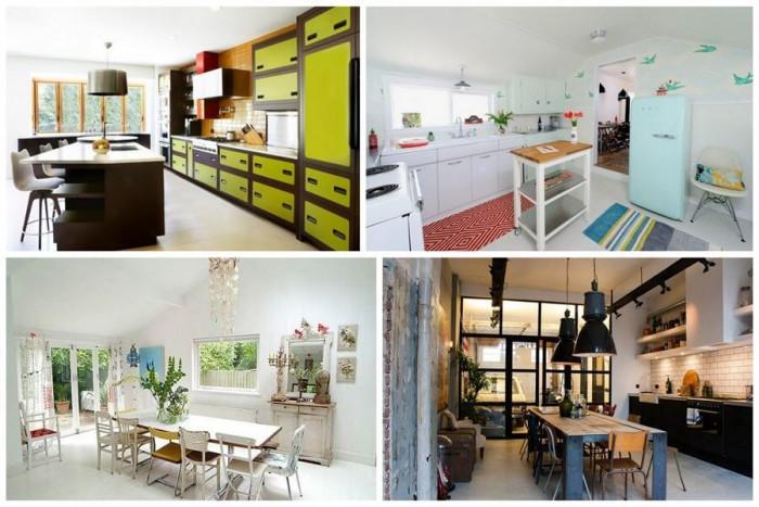 Еклектичен стил в интериора на кухнята