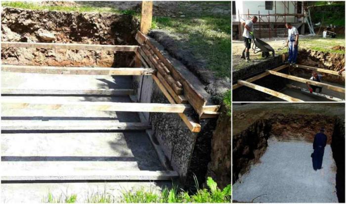 Стъпка 2: Заравнете основата и стените на басейна