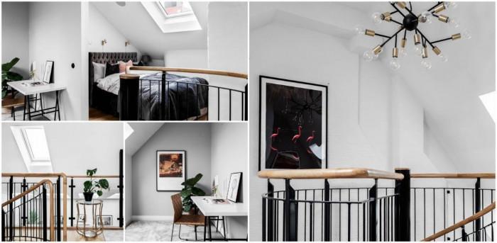 Балкон със спалня и офис кътче