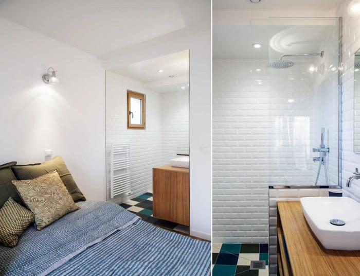 Баня и спалня на 15 кв.м.