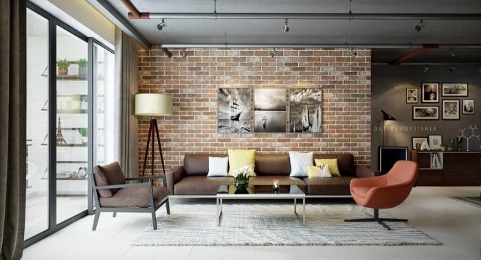 Една тухлена стена е подходяща за всяко помещение в дома