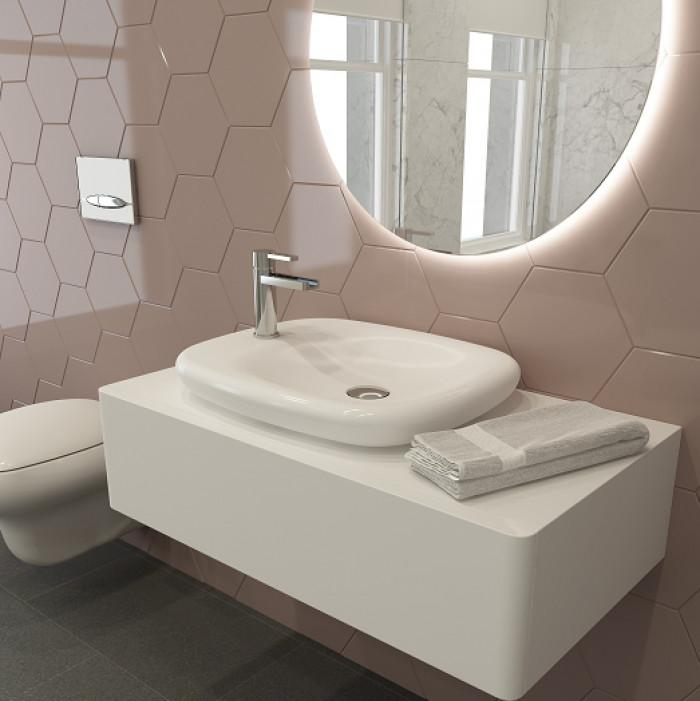 През 2016 белият цвят преобладава в банята