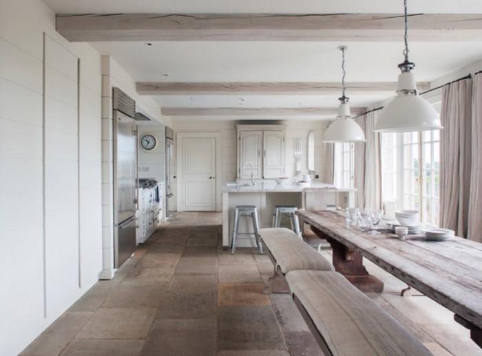 Каменна подова настилка за кухнята