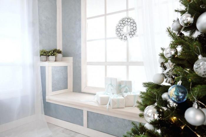 И ако нямате време, винаги има начин да украсите прозорците за зимните празници
