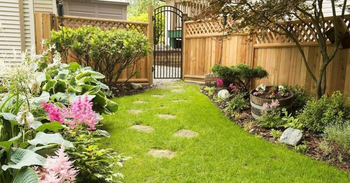 Дървената ограда като част от градината