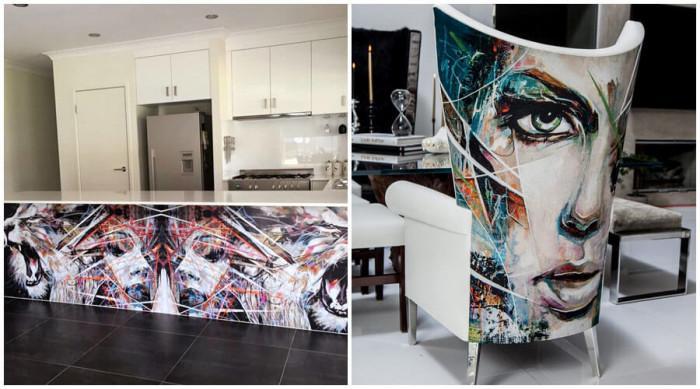 Графитите слизат от стените и покриват мебелите