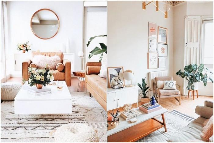 Използвайте неутрални цветове в комбинация с шарена декорация