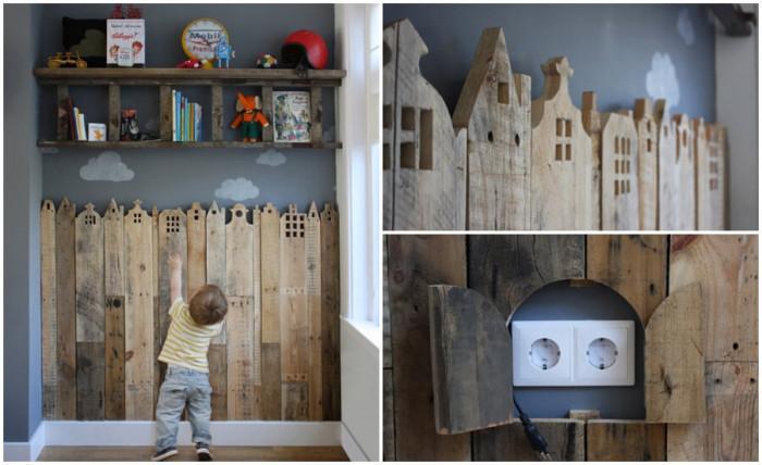 Придайте артистичен облик на стената от палети