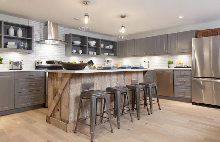 Сглобете кухненски остров от палети с уникален дизайн