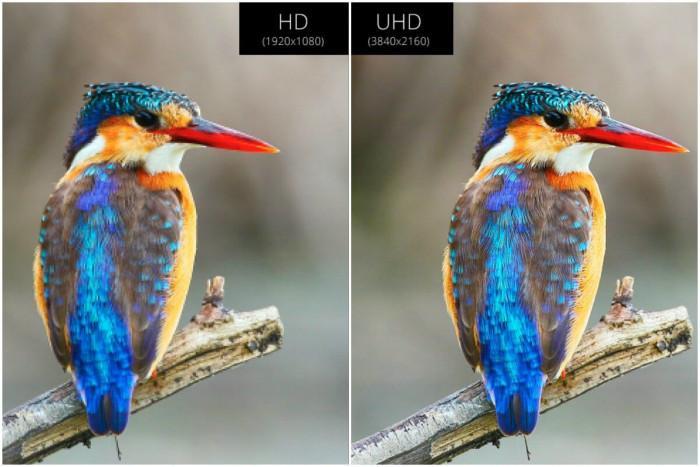 Как изглежда изображение, подобрено от UHD-технологията?