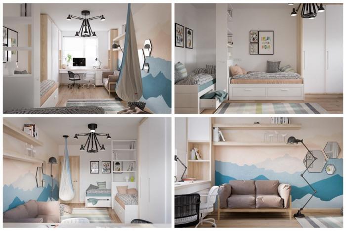Семплите нюанси създават елегантна и хармонична стая