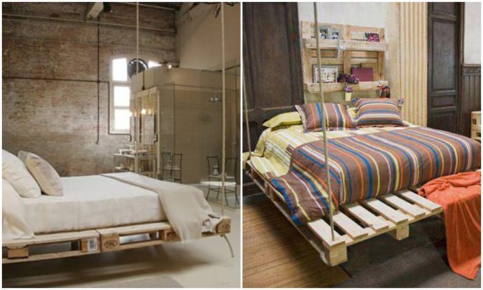 Висящо легло от палети