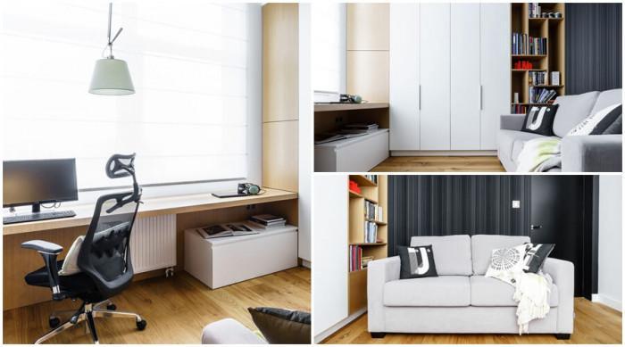 Практичен офис и удобна стая за гости в едно