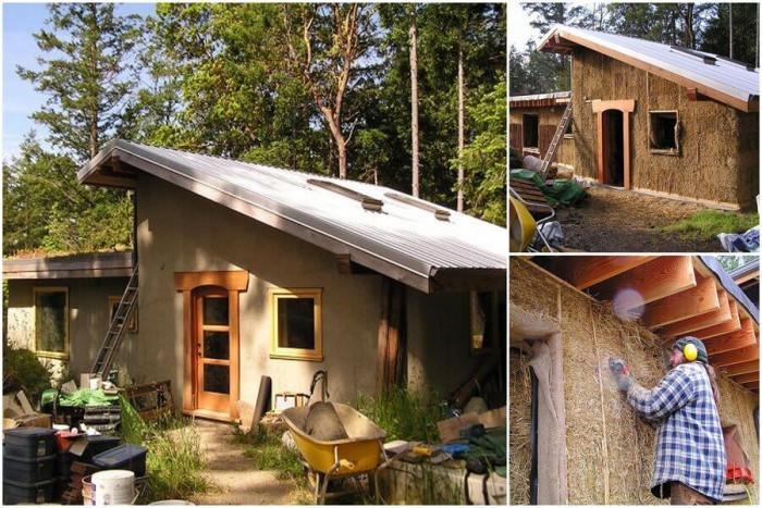 Алтернативни варианти при строежа – къща от сламени бали