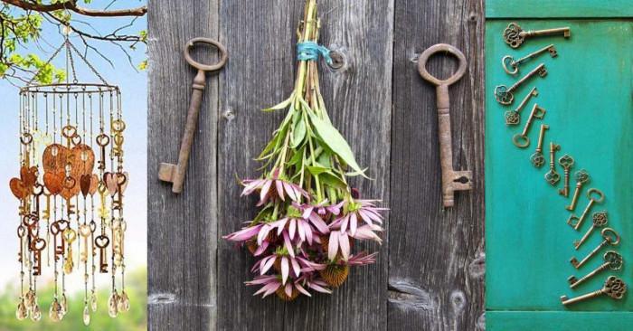 Превърнете старите ключове в ефектна декорация