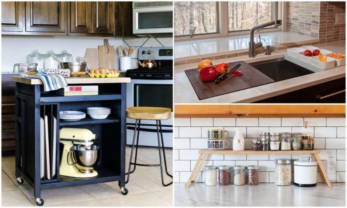 Как да се сдобиете с допълнително пространство в кухнята?