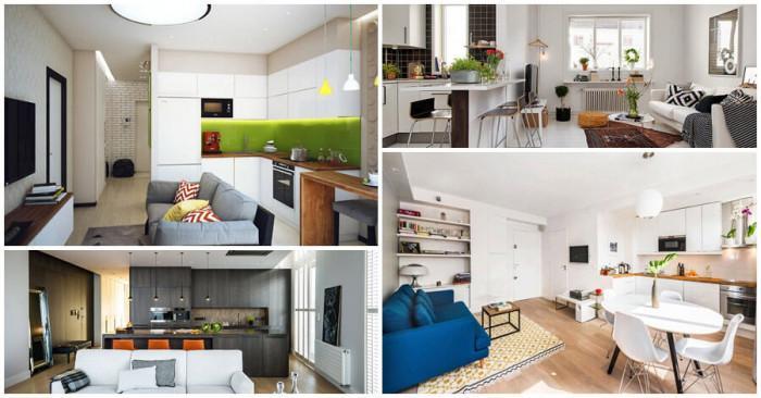 Хитро решение за компактни жилища - обединете хола и кухнята в едно