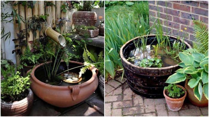 Изкуственото езерце в малката градина