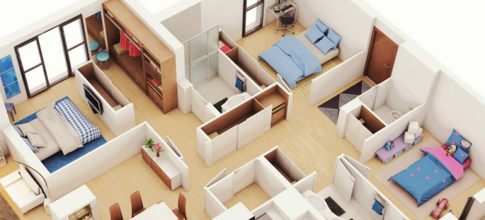 Интериорен справочник за спалня: кое е оптималното разстояние между мебелите?
