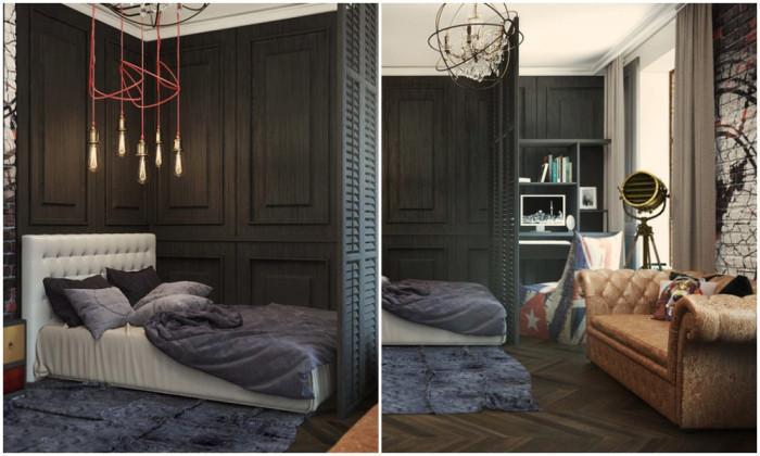 Спалня в гръндж стил