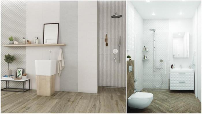 Ефектна повърхност и 3D релефи в банята