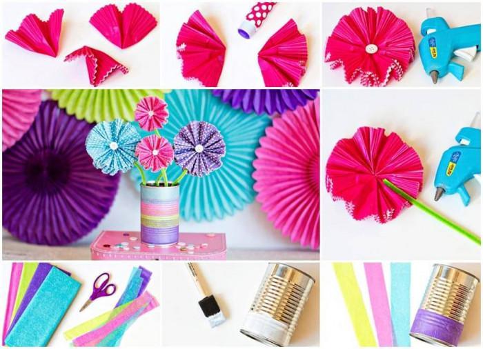 Превърнете хартиените формички за мъфини в ефектен цветен букет за детската