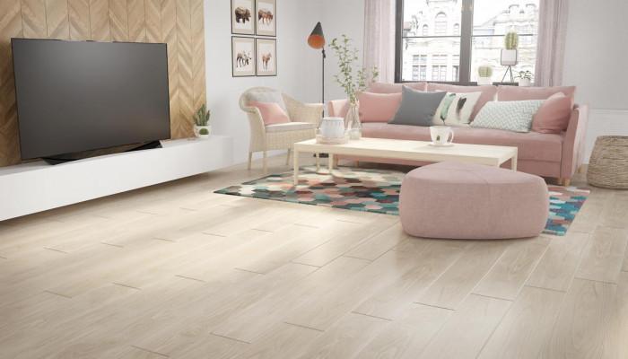 Комбинация от различни дървесни дизайни за хармонична и приветлива дневна