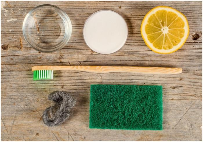 Заложете на естествени продукти за почистване