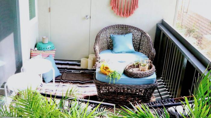 Бохо стил – вдъхновение за малък балкон!