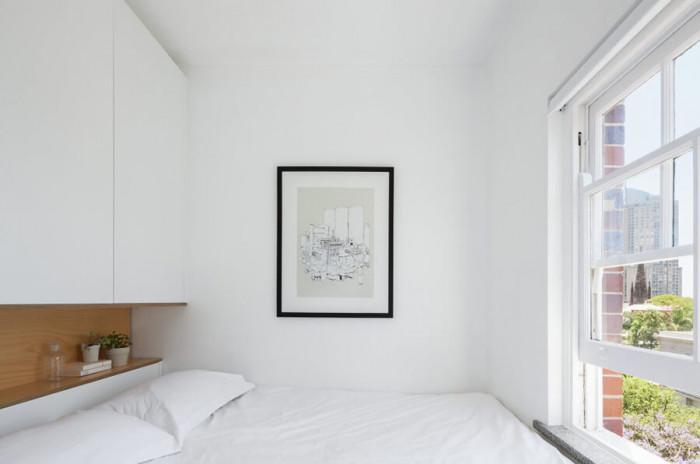 Спалнята се отличава с максимално изчистен дизайн