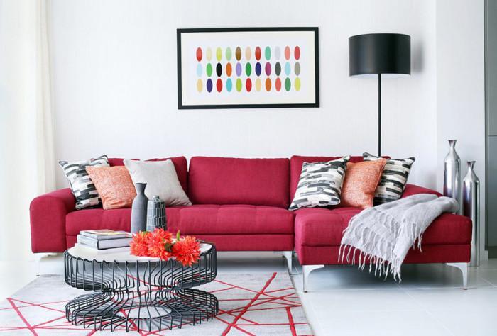 Запазете розовото и червеното за подвижните елементи у дома