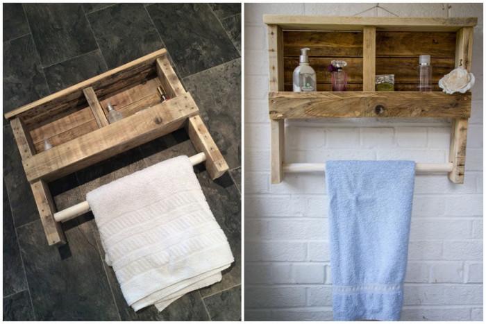 Устойчивата поставка за тоалетни принадлежности ще разчупи скучните бели стени
