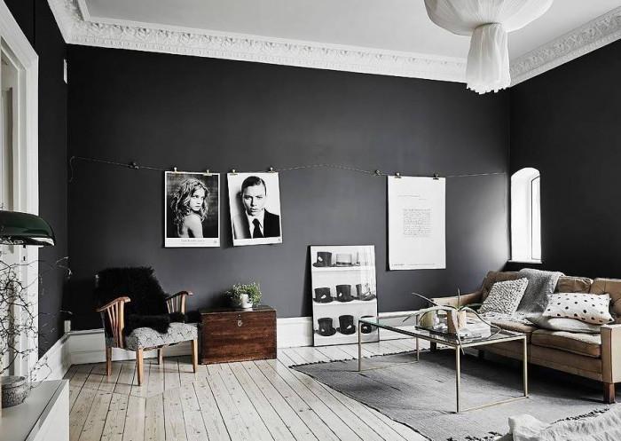 Идея №1: Тъмни стени и светли подове