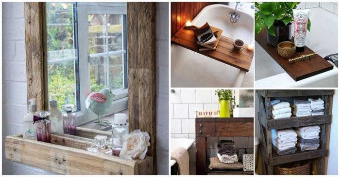 8 страхотни идеи за мебели от палети, които да поставите в банята