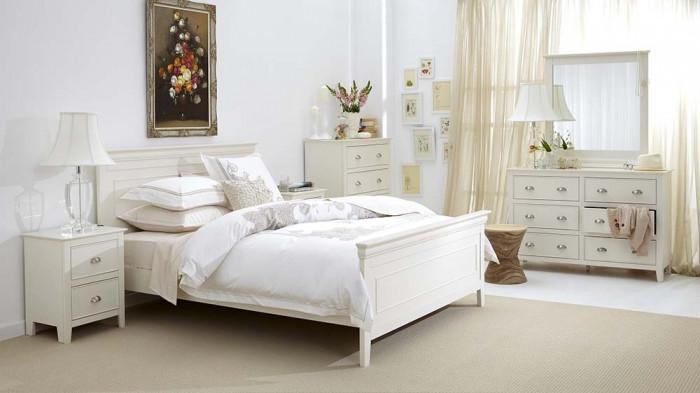 Семпъл винтидж интериор в спалнята