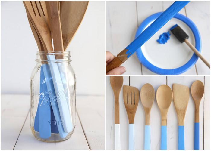 С четка и боя придайте нова визия на кухненските пособия