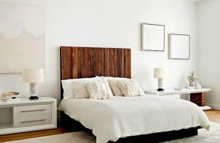 Бяло очарование в спалня с пух и мекота