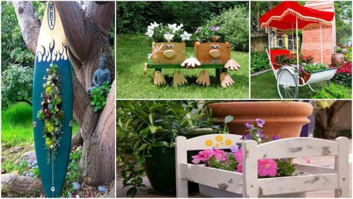 Необичайна, забавна и оригинална градина