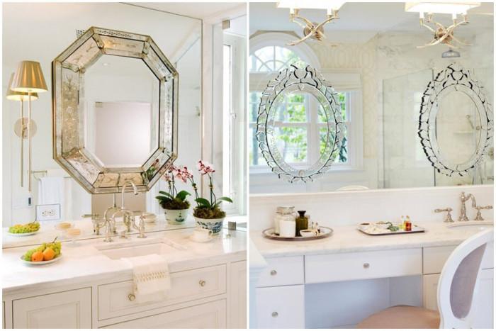 Венециански огледала за баня - символ на елегантността