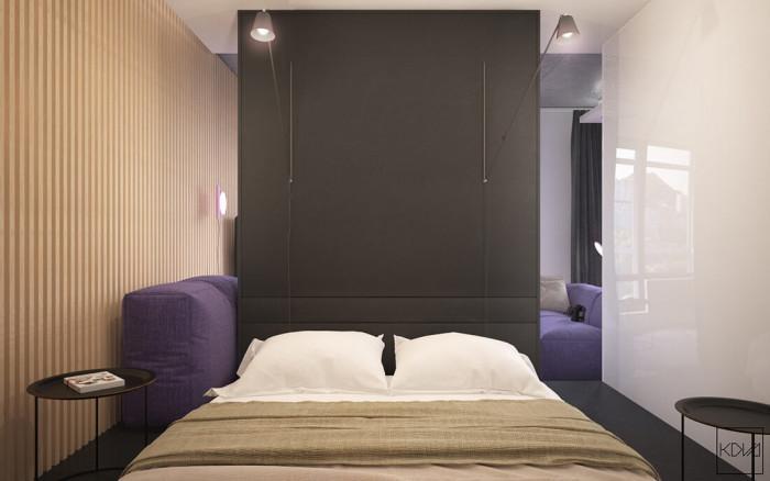 Спалнята е малка, но удобна