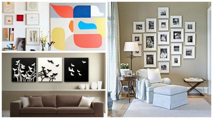 Съвети за красива подредба на картините в жилището