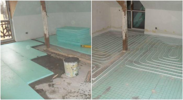 Фибран и подово отопление за пода