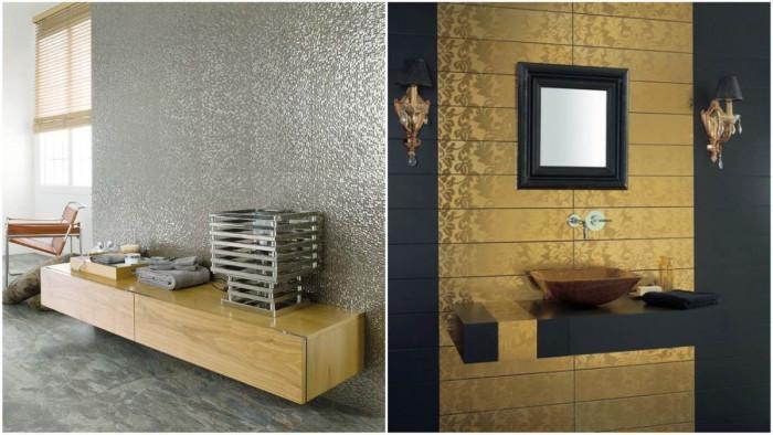 Бляскава баня със сребърни и златни плочки
