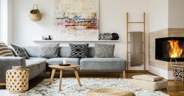5 нестандартни идеи за декорация на стената зад дивана