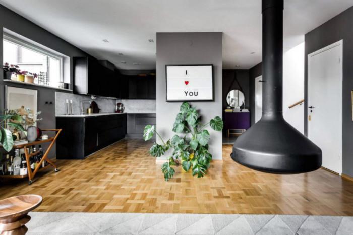Стилна черна кухня