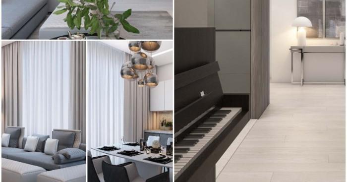 Семпъл семеен четиристаен апартамент в Москва