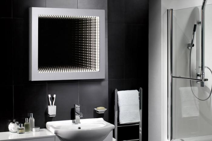 Впечатляващи 3D огледала за баня