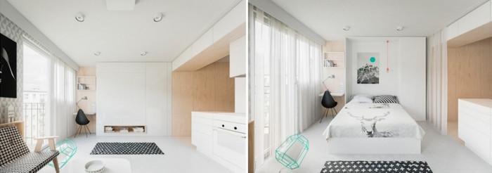 Спалня, вградена в стената